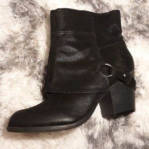 Black High Heel Ankle Boots